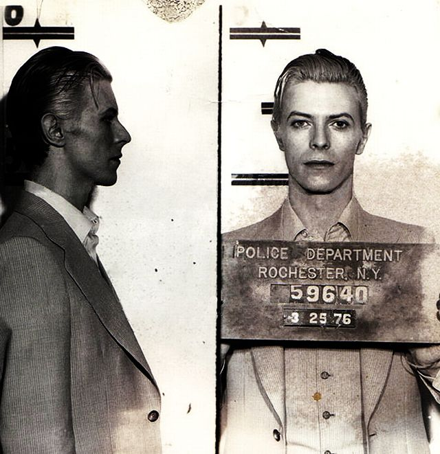 The Thin White Duke: Best Mugshot Evuh